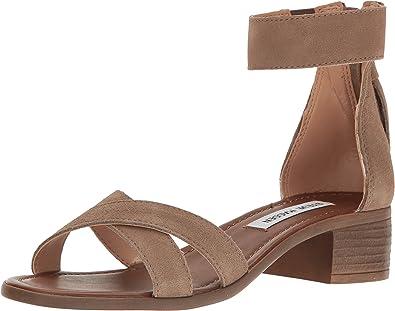 Steve Madden Women's Ronnda Taupe Suede Sandal