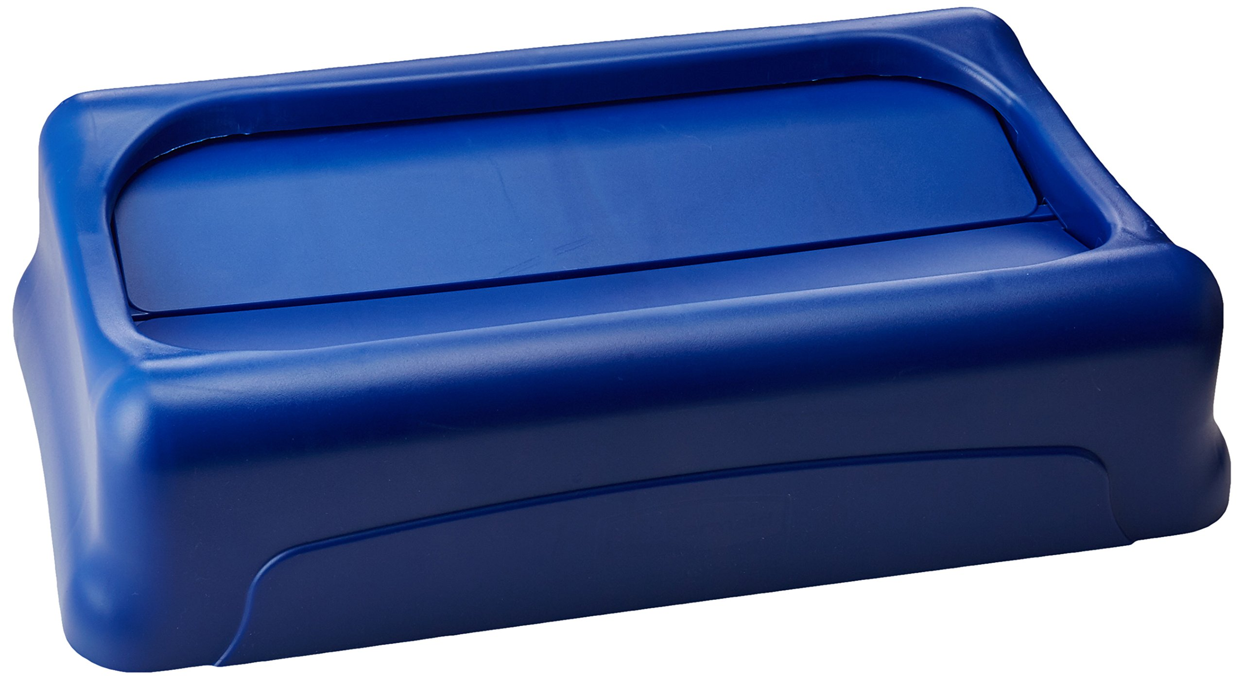 Rubbermaid Commercial Products FG267360BLUE Slim Jim Trash Can, Swing Lid, Blue