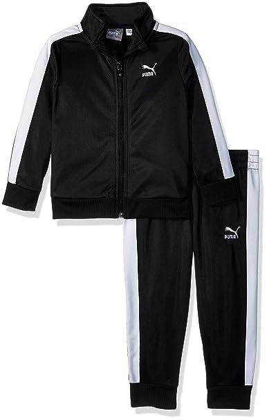 0474e1336 Puma Little - Conjunto deportivo de pants y chamarra