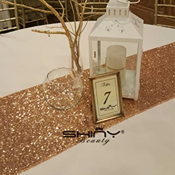 High Quality Rose Gold Sequin Table Runner 12u0026quot; X 108u0026quot; Sequin TableCloth  Wholesale Sequin ...