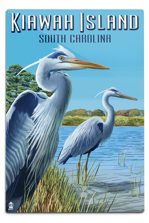 【2018A/W新作★送料無料】 Kiawah島 Sign、South Carolina – Metal Blue Herons Blue Canvas Tote Bag LANT-43720-TT B06Y1HFD4R 12 x 18 Metal Sign 12 x 18 Metal Sign, 家電のネイビー:ecb8e494 --- cursos.paulsotomayor.net