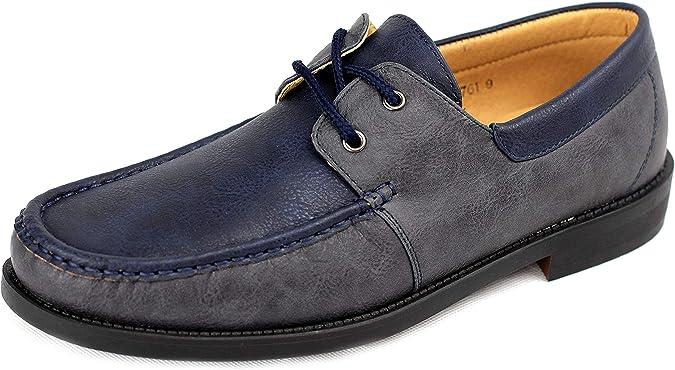 Hombre NUEVO Sin Cordones Zapatos Náuticos Conducción Mocasin Estilo Informal Mocasines Talla eu 34 40