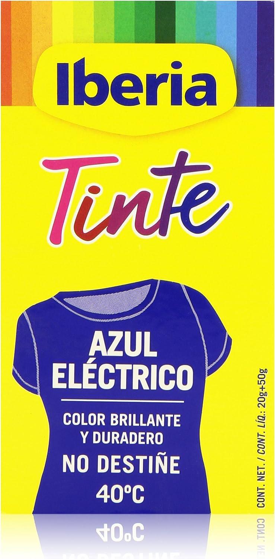 Iberia - Tinte Azul Eléctrico para ropa, 40°C