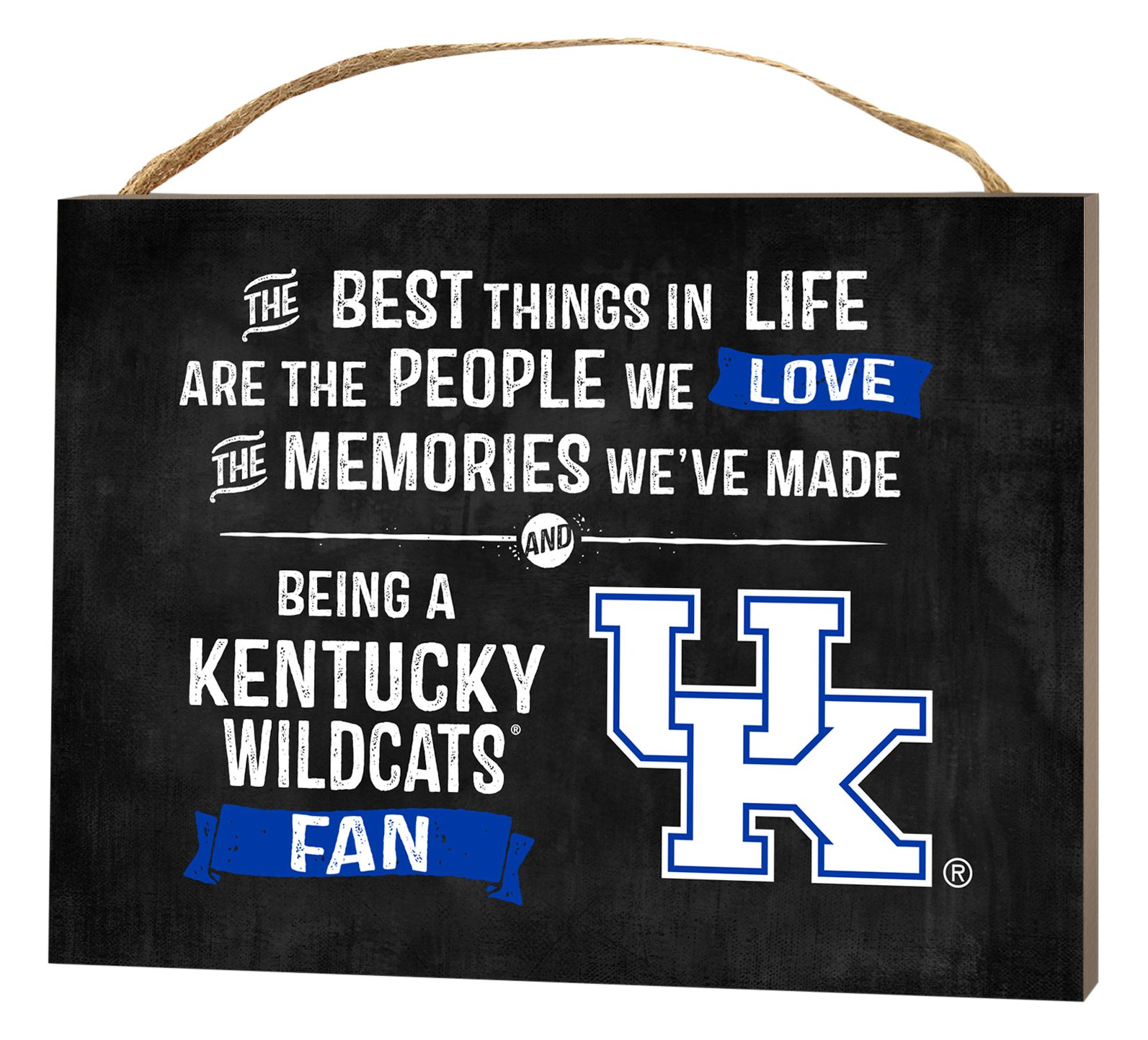 KH Sports Fan 4'' x 5.5'' Kentucky Wildcats Best Things Small College Plaque