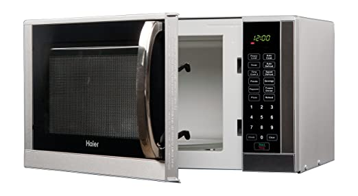 Safety oven features microwave