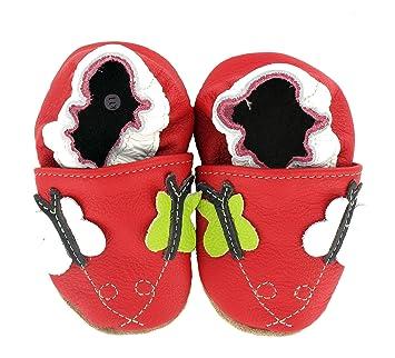 d57a3af238ea9 Chaussures premiers pas Chaussons Bébé en cuir doux HOBEA-Germany -  unicolore