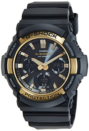 Casio G-SHOCK TOUGH SOLAR GAS-100G-1AMens Analog-Digital Black Sport