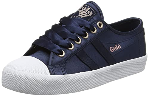 Femme Gola Chaussures Satin Coaster Baskets NavyWhite vqIYqF