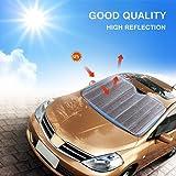 Yosoo Universal Large Silver Car Windscreen Windshield Sun Shade Heat Reflective Windshield Visor Front Window UV Block