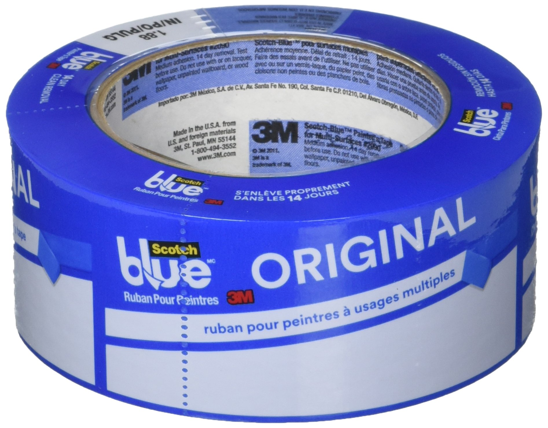 ScotchBlue 2090-48E-G Painter's Tape Original Multi-Surface, 1.88-Inches x 60-Yards, 1 Roll, 12 Packs Per Case