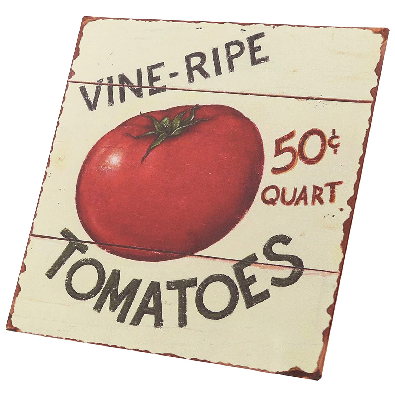 "Vine Ripe Tomatoes Retro Vintage Tin Bar Sign Country Home Decor 11/"" x 11/"""