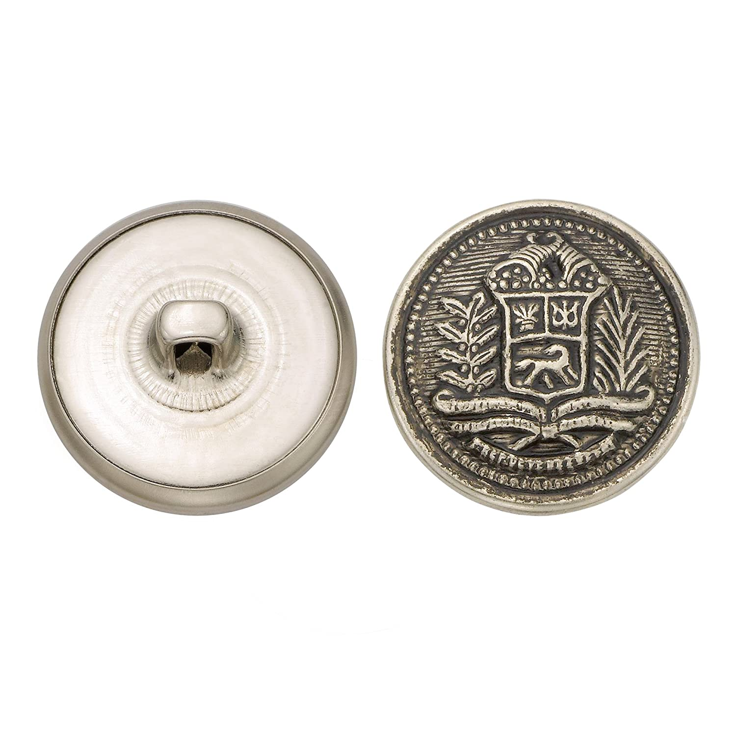 36-Pack C/&C Metal Products Corp Antique Nickel Size 36 Ligne C/&C Metal Products 5271 Crest Metal Button