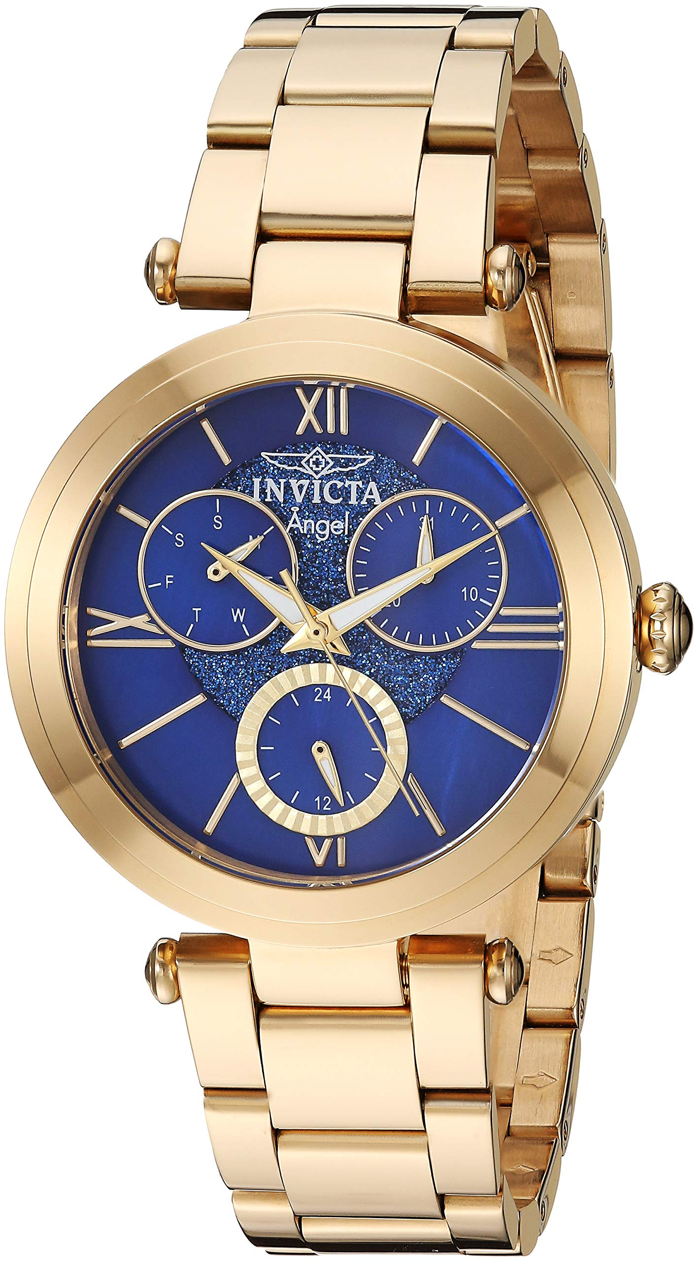Invicta Women's Angel Quartz Stainless Steel Strap, Gold, 17.5 Casual Watch (Model: 28935)