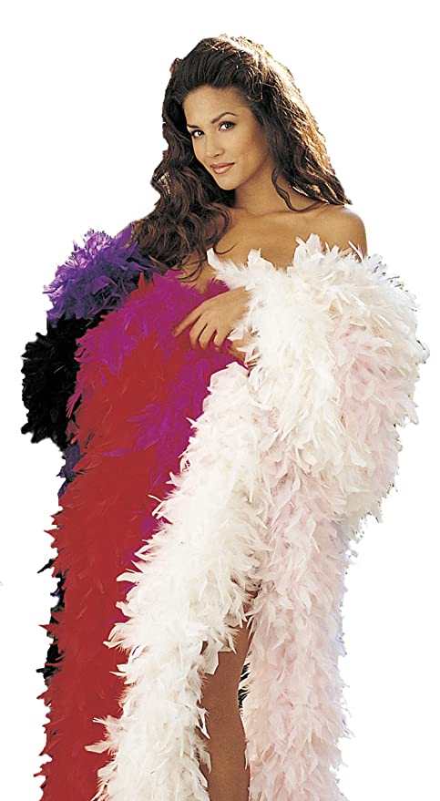 1920s Accessories Guide Shirley of Hollywood  Adult Feather Boa $5.20 AT vintagedancer.com