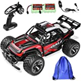 Remote Control Car RC Buggy - 2 WD 2.4Ghz Off-Road Racing Truck 1:16 RC Car with 2 Rechargeable Battery &Storage Bag(Red)