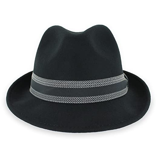 Belfry Striped Trilby Men Women Crushable Wool Felt Fedora Hat at ... 16be5fe7266b