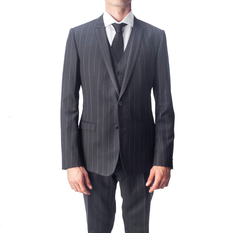 7af2c2be08 Amazon.com: Dolce & Gabbana Men's Virgin Wool 3-Piece Pinstripe Suit ...