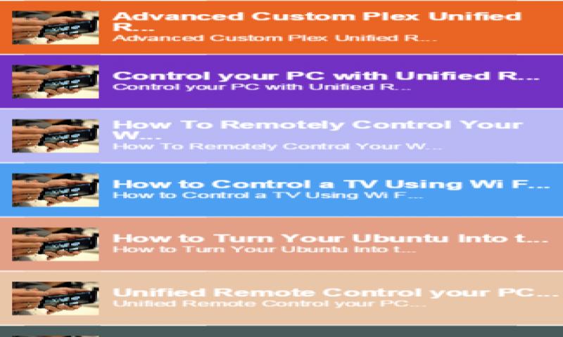 unified remote ubuntu