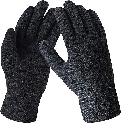 Gants d/écran Tactile Tricot Chaud Gants Chauds Tricot/és pour Homme et Femme Unisexe