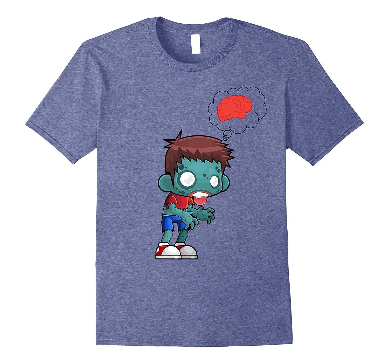 Zombie Brains | Funny Zombie Boy Halloween T-shirt-FL