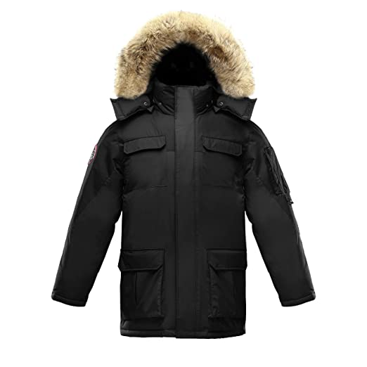 531f19150 Triple FAT Goose Chenega Mens Goose Down Jacket Parka with Real Coyote Fur  (XXXL)