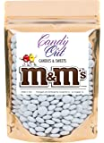 White m&m 1 Pound Milk Chocolate in CandyOut Sealed Stand Up Bag