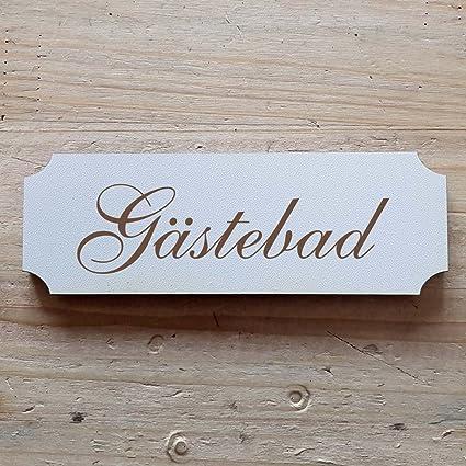 Cartel « Invitados baño » a partir de: 15 x 5 cm - Placa ...