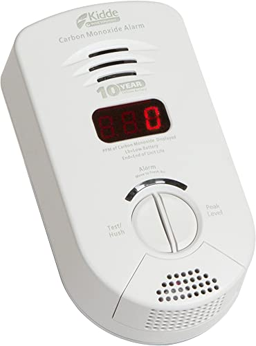 Kidde Worry Free Bedroom Plug-in Carbon Monoxide Detector Alarm with Sealed Lithium Battery Backup and Digital Display Model 900-0282 KN-COP-DP-10YB