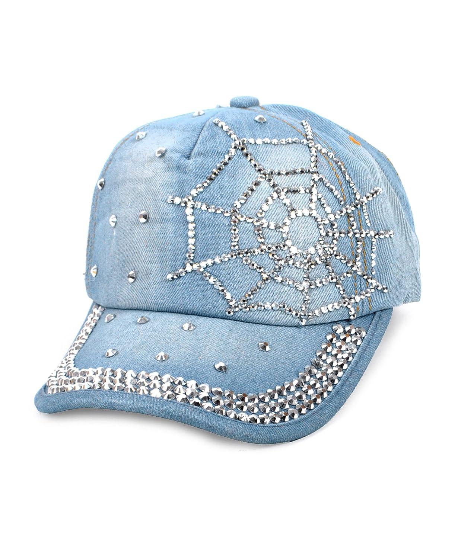 "Stone Jeweled Cap ""Web"""