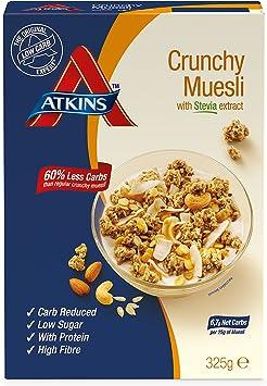 Atkins Muesli Crujiente - 3 Paquetes de 325 gr - Total 975 gr ...
