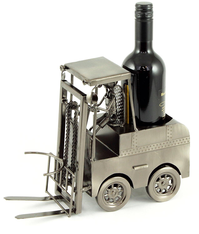 Portabottiglie in metallo carrello elevatore Stapler con autista supporto bottiglie