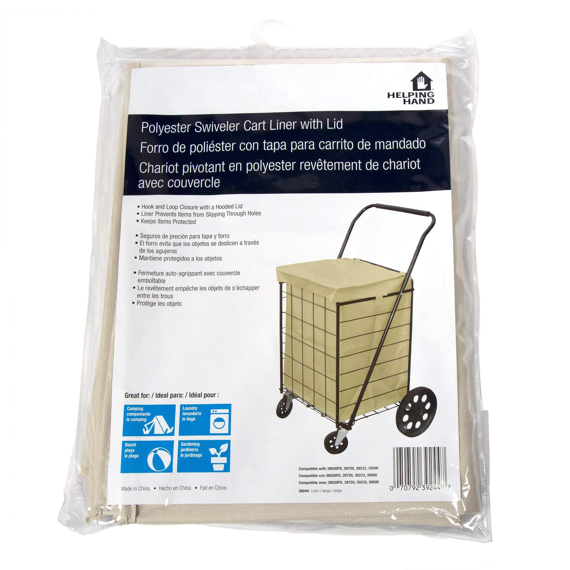 Helping Hand Cart Liner (Linen, Large) - Designed for Swiveler Cart