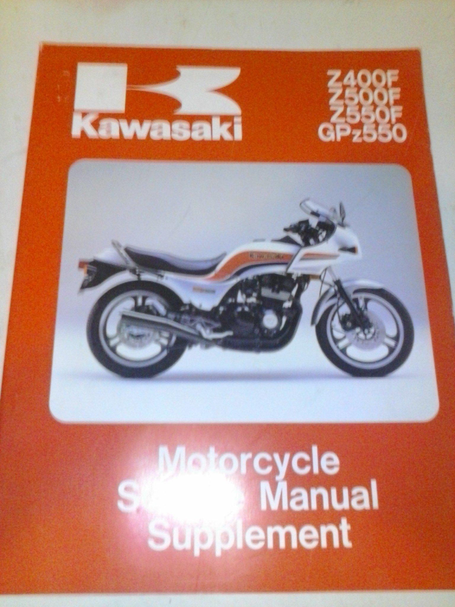 1983 1985 kawasaki z400f z500f z550f gpz400 service repair supplement manual download 1983 1984 1985