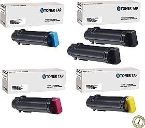 Toner Tap for Dell S2825cdn H825cdw Color Smart Multifunction H5K44 (593-BBPB) 4Y75H (593-BBPC) 4NRYP (593-BBPD) 1MD5G (593-BBPE) (5 Pack Bundle)