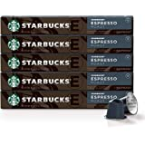 Starbucks by Nespresso, Espresso Dark Roast (50-count single serve capsules, compatible with Nespresso Original Line…