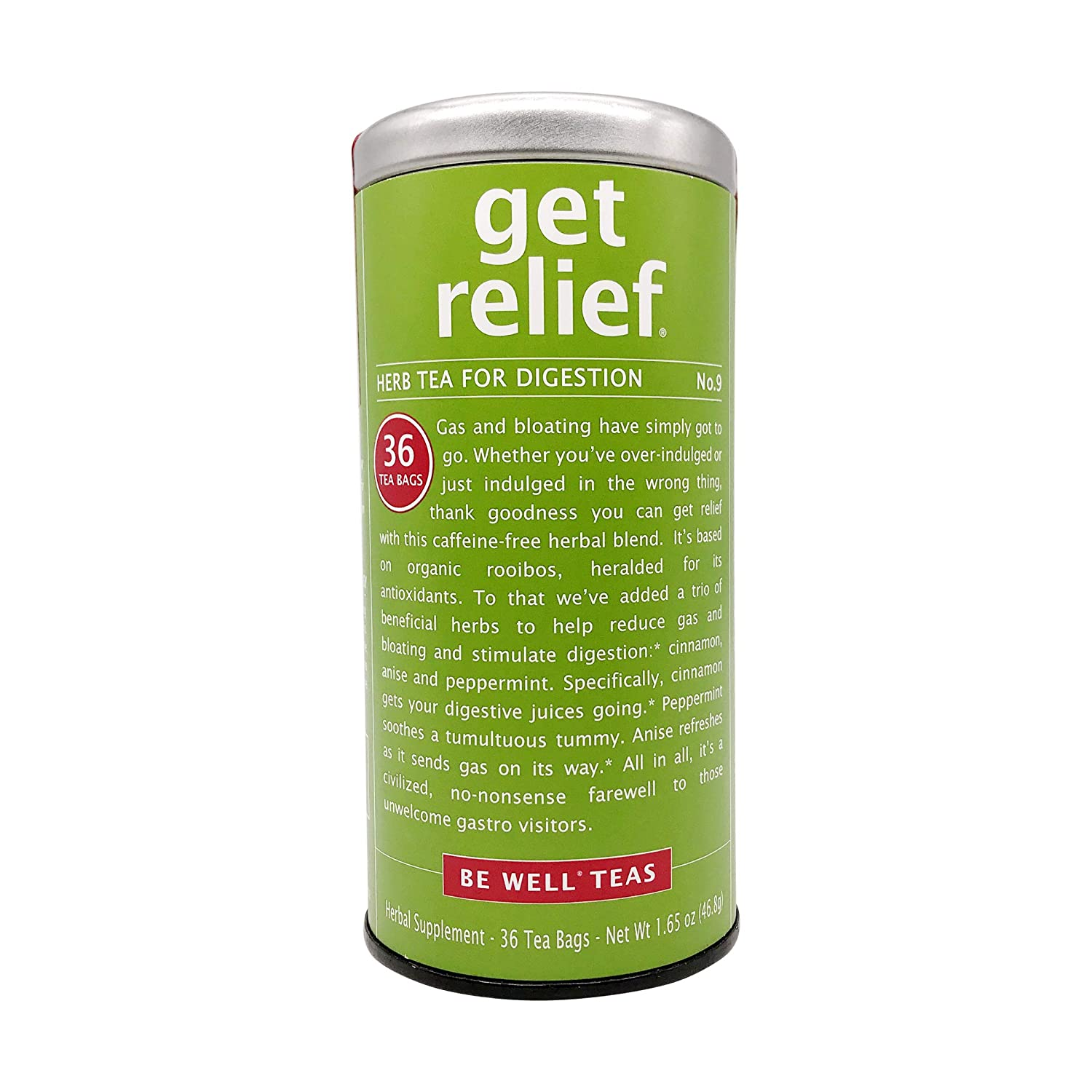 The Republic of Tea, Get Relief Tea, 36-Count