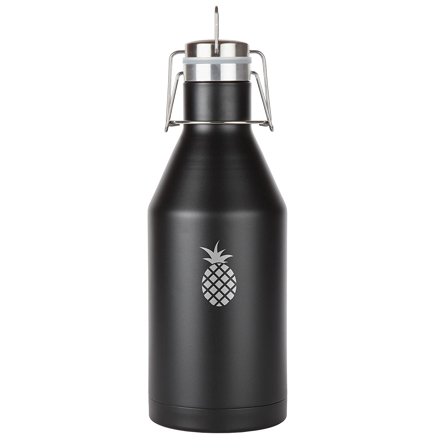 Pineapple Stainless Steel Beer Growler. 64 Oz Leak Proof Vacuum Sealed Beer Growler. Laser Engraved In The Usa Modern Goods Co