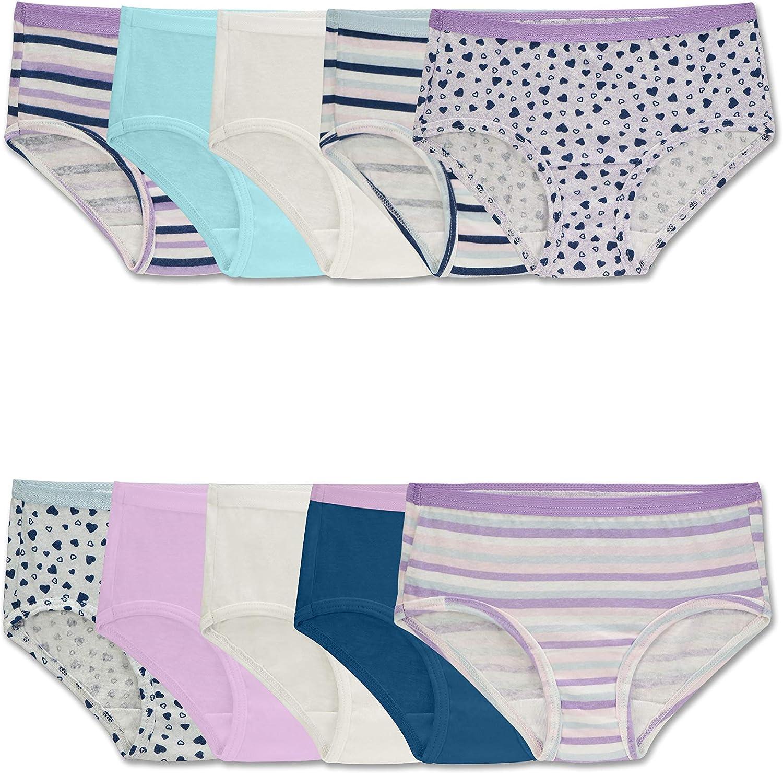 Fruit of the Loom Girls Cotton Brief Underwear Briefs