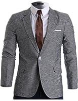 FLATSEVEN Mens Slim Fit Linen Stylish Casual Blazer Jacket