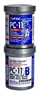 PC-Products PC-11 Epoxy Adhesive Paste, Two-Part Marine Grade, 1lb in Two Cans, Off White 160114