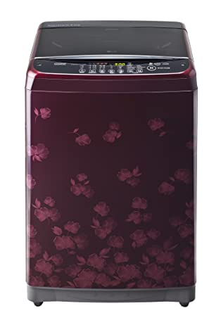 LG 6.5 kg Fully-Automatic Top Loading Washing Machine (T7581NEDL8, Floral Red Pattern)