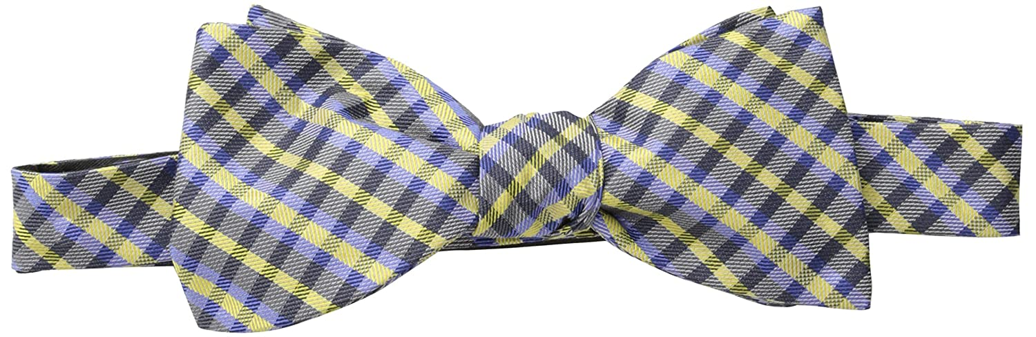Ben Sherman Men's Core Check Bow Skinny Tie Yellow One Size Randa Neckwear SH20200009