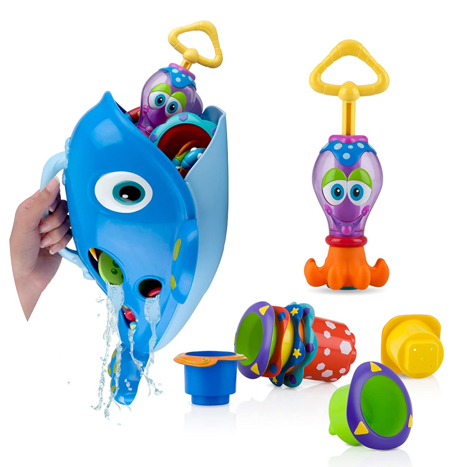 Amazon.com : Nuby Bath Toy Gift Set : Baby