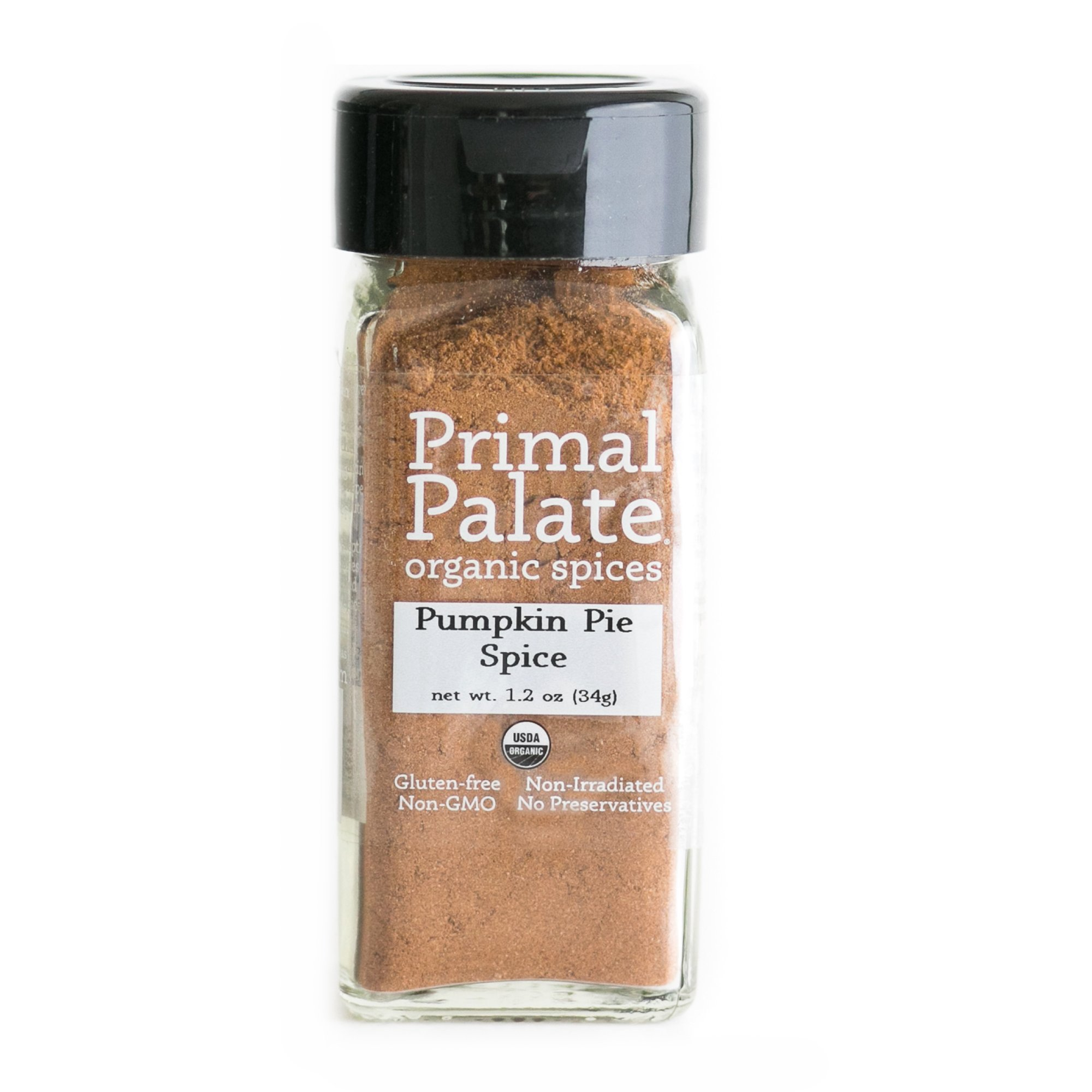 Primal Palate Organic Spices Pumpkin Pie Spice, Certified Organic, 1.2 oz Bottle