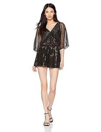 91a6c03902f Amazon.com  BB Dakota Women s Odelia Sequin Beaded Romper  Clothing