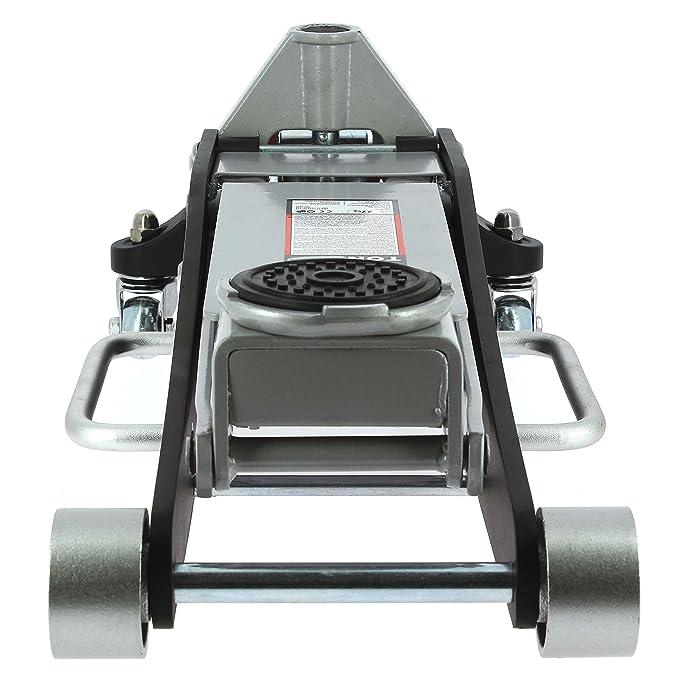 Gato hidráulico profesional de aluminio y acero de 3 toneladas con ruedas: Amazon.es: Coche y moto
