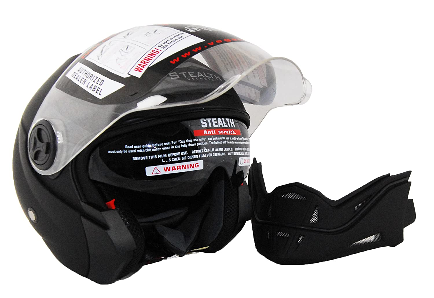 Amazon.com: Stealth Phantom Convertible Casco, touring ...