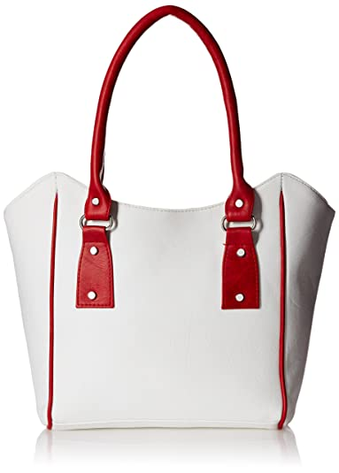 Fantosy Women s Handbag (White And Red c007aff221599