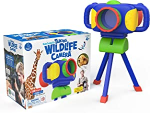 Educational Insights GeoSafari Jr. Talking Wildlife Camera, Built-In Animal Facts & Hi-Def Images, Featuring Voice & Photography from Robert Irwin, STEM & Science Toy, Interactive Learning, Ages 4+