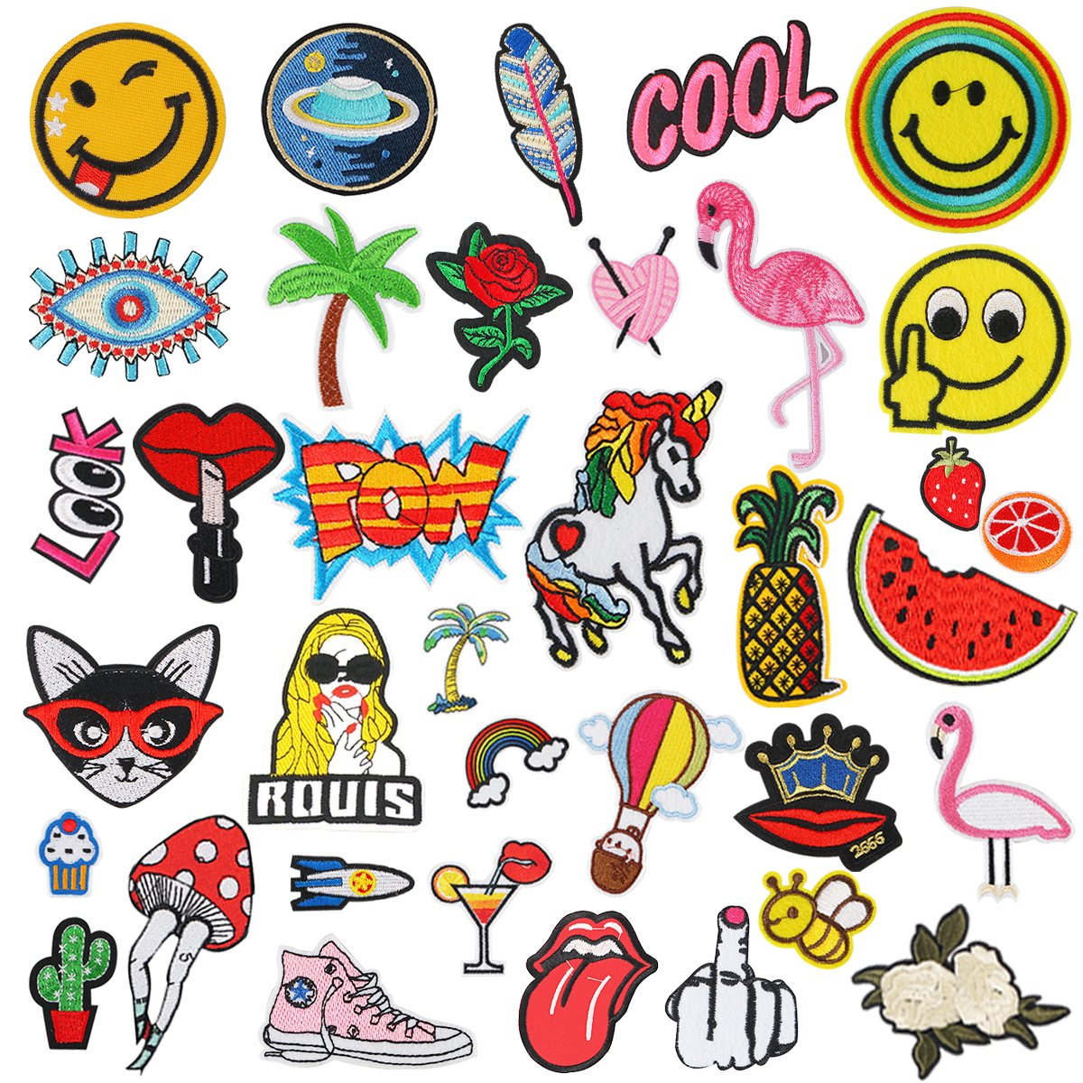 Iron On Patches, Aiduy 36pcs Embroidered Patches Iron On or